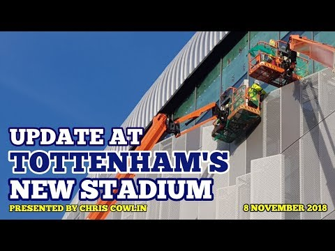 UPDATE AT TOTTENHAM'S NEW STADIUM: Busy Day as Levy & Pochettino Visit - 08/11/2018 Mp3