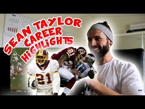 Rugby Player Reacts to SEAN TAYLOR NFL Career Highlights YouTube Video