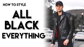 3 WAYS TO WEAR ALL BLACK | How to Style | Men