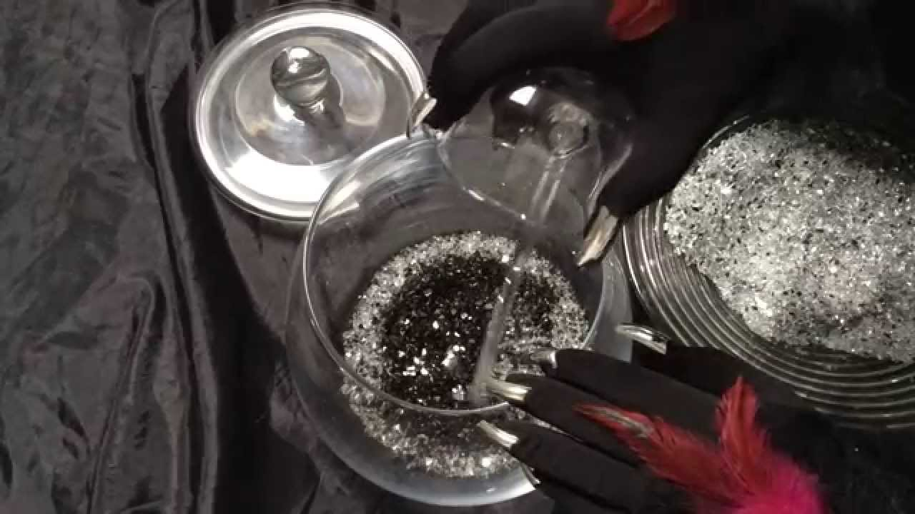 Black gloves with nails -  Asmr Black Gloves With Long Silver Nails