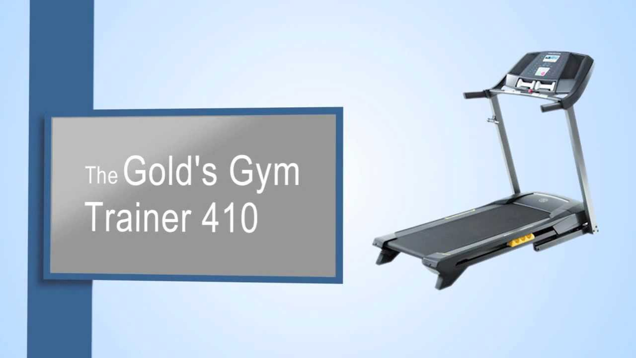 Golds Gym Trainer 410 Treadmill Review YouTube