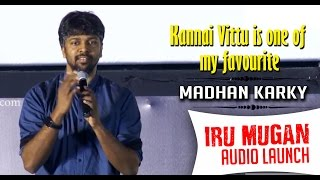 Kannai Vittu is one of my favourite from Iru Mugan: Madhan Karky | Audio Launch