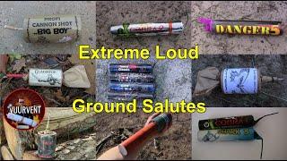 EXTREME LOUD FIRECRACKERS - Knal Vuurwerk Compilatie - Big Ground Salutes - Fireworks - Vuurwerk