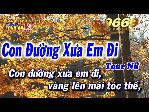 Karaoke Con Đường Xưa Em Đi | Tone Nữ beat chuẩn | Nhạc sống LA STUDIO | Karaoke 9669