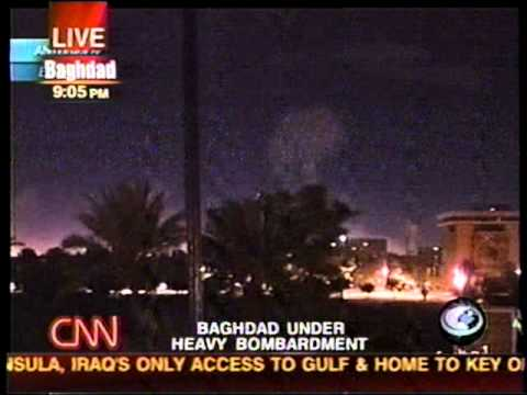 """Shock and Awe"" The Beginning of the 2003 Invasion of Iraq (CNN Live Coverage)"