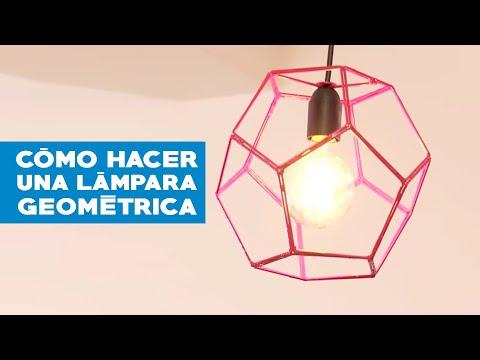 C mo hacer una l mpara geom trica youtube - Como hacer una lampara ...