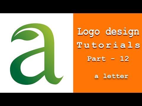 a letter logo design adobe illustrator tutorials thumbnail