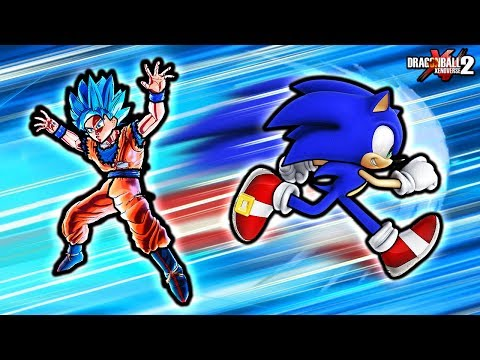 THIS NEW SONIC IS THE FASTEST CHARACTER In Dragon Ball Xenoverse 2?! Sonic VS Goku Custom Skills