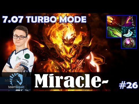 Miracle - Shadow Fiend MID   7.07 TURBO MODE with GH + KuroKy    Update Dota 2 Pro MMR  Gameplay #26