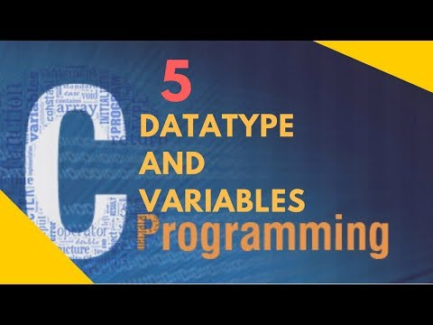 C programming Tutorial In Hindi 5: DataType and Variables