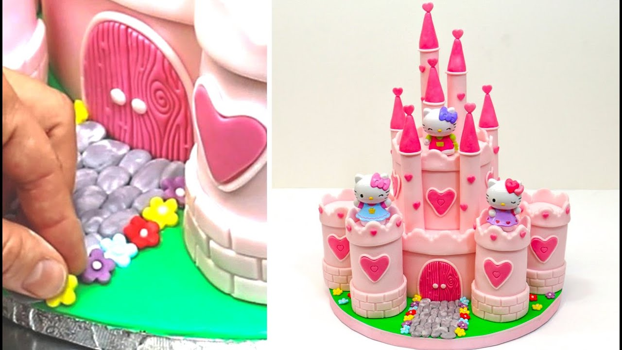 PRINCESS CASTLE Hello Kitty Play Cake How To Make by