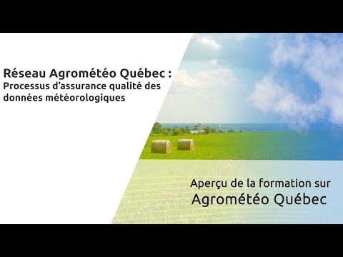 Aperçu de la formation Agrométéo Québec - Processus d'assurance qualité des données météorologiques