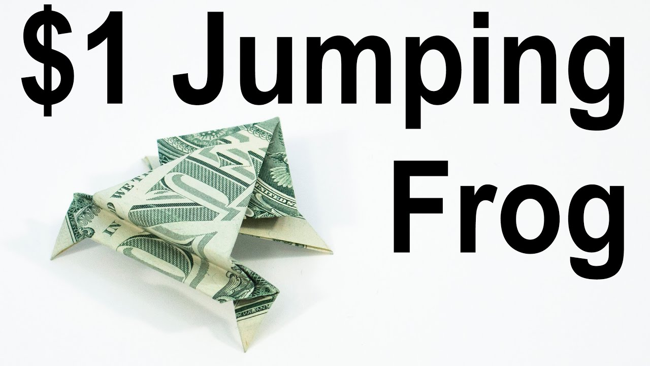 Money Jumping Frog Dollar Bill Origami Animal