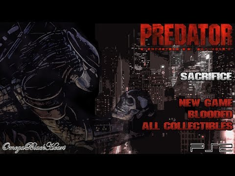Predator: Concrete Jungle PS4- Sacrifice (New Game, Blooded, All Collectibles)