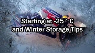 cold start in 25 celsius motorcycle winter storage tips