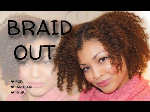 curly braid natural hair style