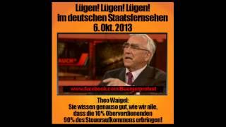 Theo Waigel lügt hemmungslos bei Günther Jauch in der ARD