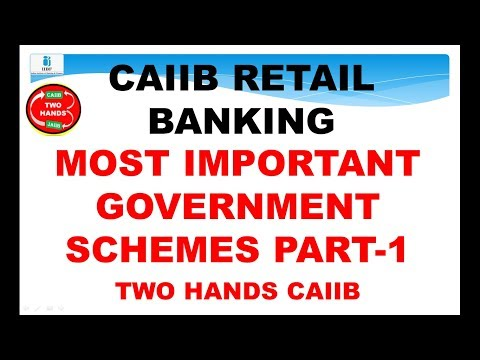 RETAIL BANKING GOVERNMENT SCHEMES I TWO HANDS I RETAIL BANKING TWO HANDS CAIIB