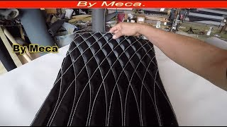 How to make fade out diamond  for cars seats. Tips for beginners. upholstery