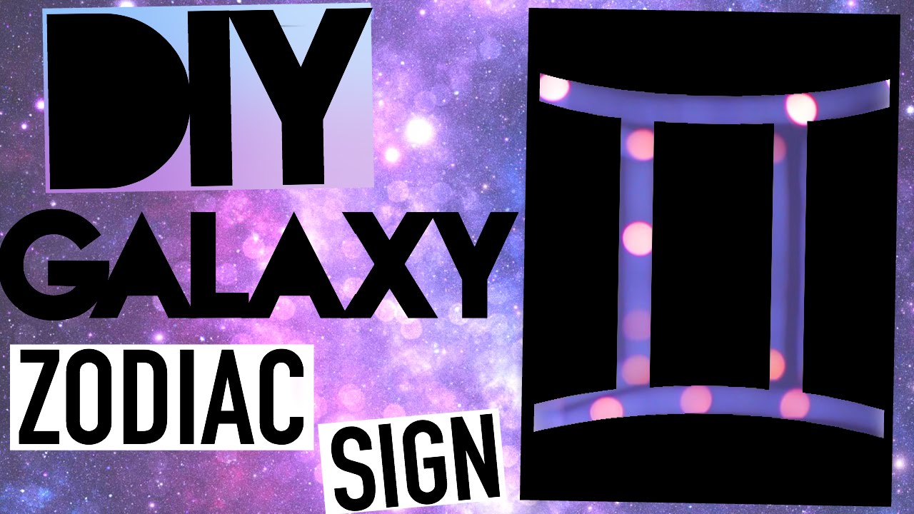 Diy Tumblr Room Decor Galaxy Sign Youtube