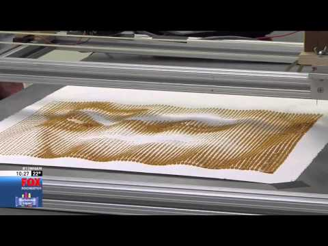 RIT on TV: Professor creates coffee art printer