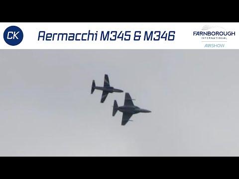 Aermacchi M345 & M346 Practicing for Farnborough Air Show 2014