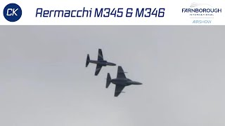 Aermacchi M345 & M346 Practicing for Farnborough Air Show 2014