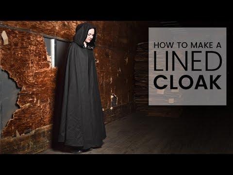 How to make a cloak no sew