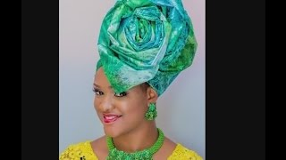 How to tie Avant garde - African Head Gear Gele Tutorial