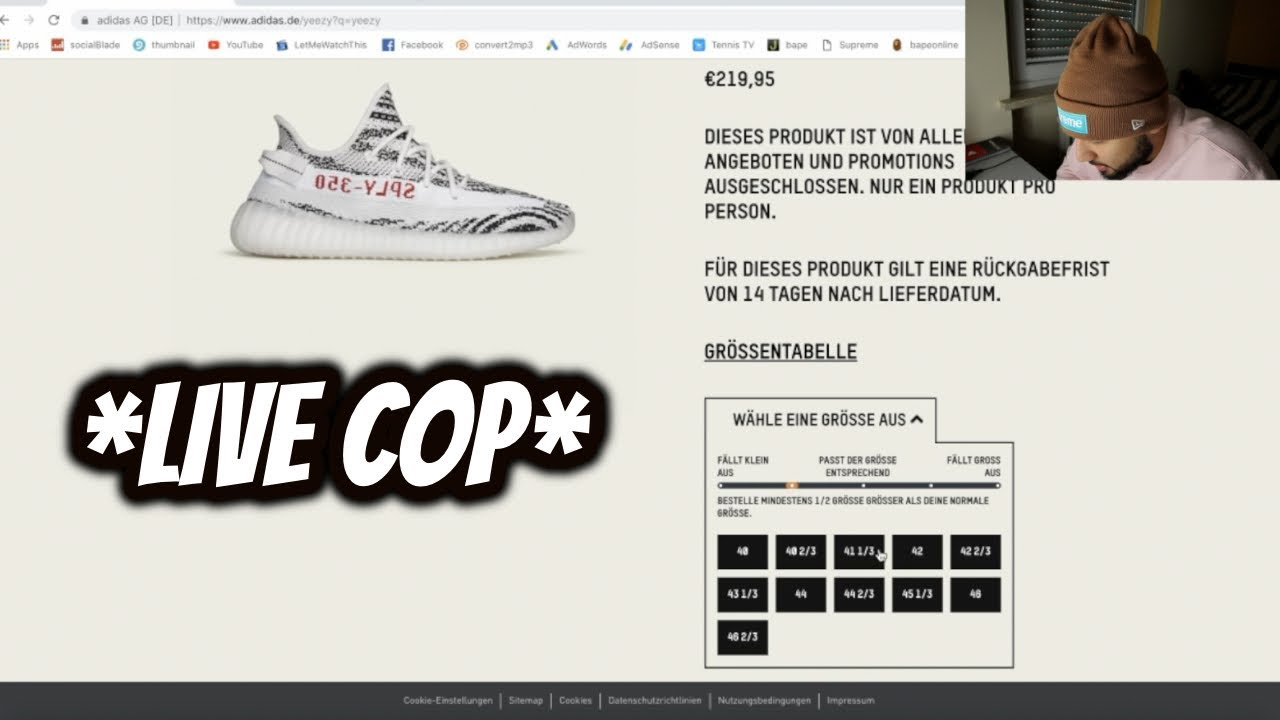 LIVE COP*ADIDAS YEEZY BOOST 350 V2