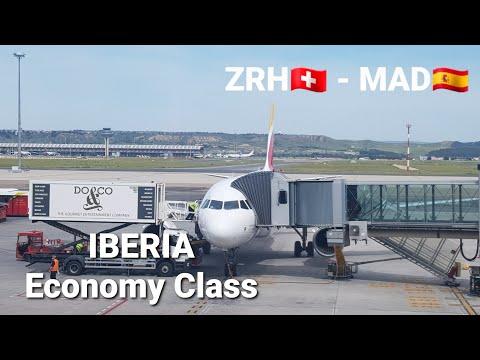 Trip Report   In der IBERIA Economy Class von Zürich (ZRH) nach Madrid (MAD)   Airbus A319