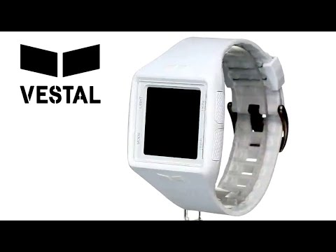 Vestal Men's BRGOLD Brig Tide & Train White/Grey Watch With Plastic Band
