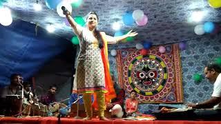 bhajan samaroh in Maniabandha (Sarak sahi) Asima panda on stage bolbom song