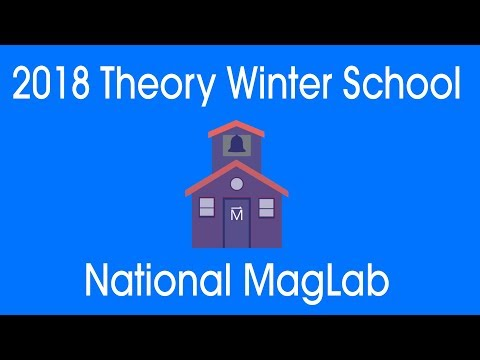 MagLab Theory Winter School 2018: Subir Sachdev: Quantum Matter Without Quasiparticles