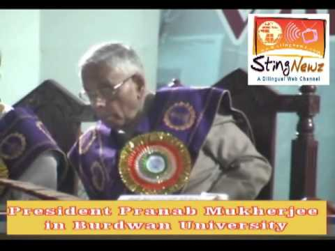 President Pranab Mukherjee in Burdwan University
