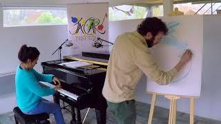 """Concierto audiovisual para niños y niñas. """"Trazando Música"""". Ilustraciones y piano en vivo"""