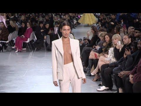 Bella Hadid, Joan Smalls, Eva Herzigova on the runway for the Alexandre Vauthier Fashion Show