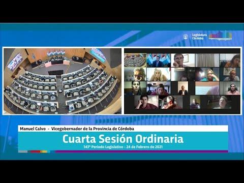 Cuarta Sesión Ordinaria 143 Periodo Legislativo - 24 de Febrero 2021