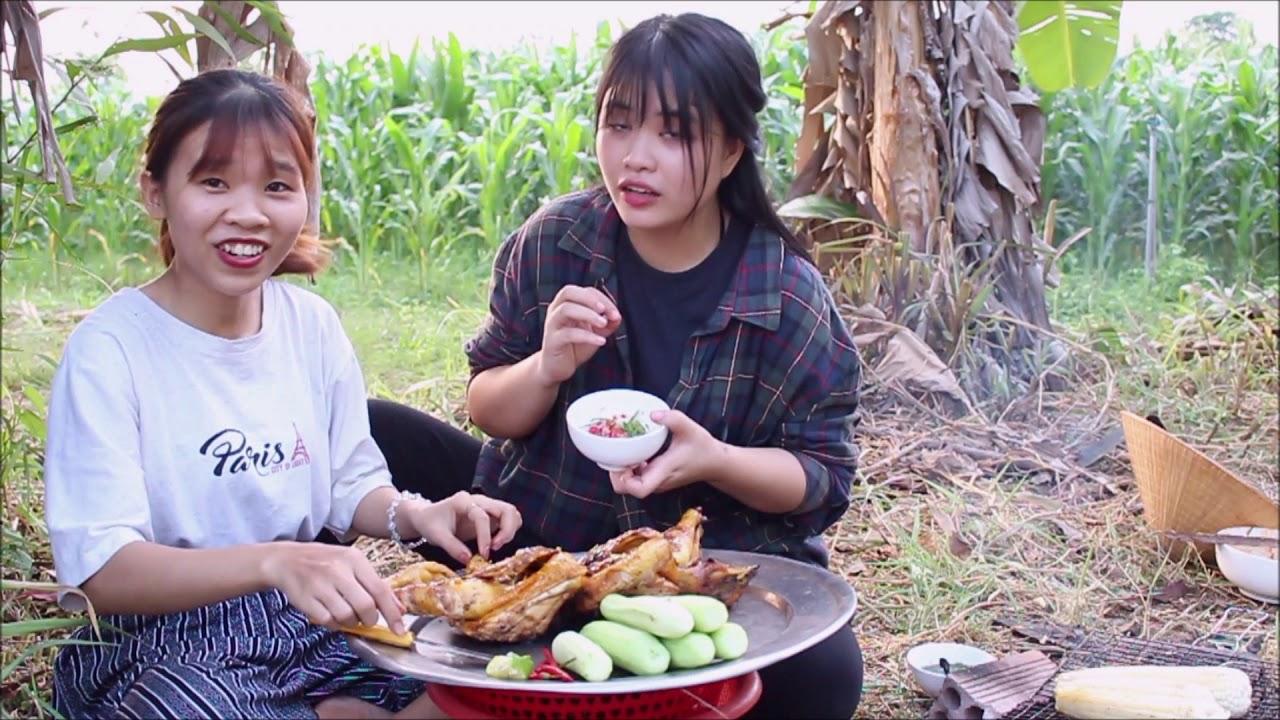 GÀ NƯỚNG MUỐI ỚT Nguyên Con Thơm Ngon Ăn Là Ghiền l  Grilled Chicken With Salt And Chili   Ghiền Ăn