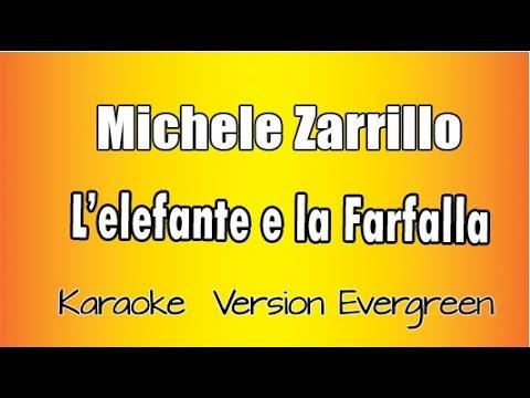 karaoke Italiano -  Michele Zarrillo -  L'elefante e la farfalla