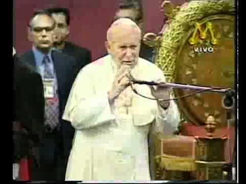 Papa João Paulo II no Brasil 1997 (ao vivo - Rede Manchete).avi