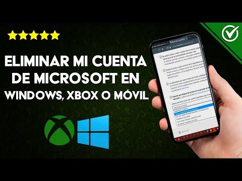 Cómo Eliminar mi Cuenta de Microsoft en Windows (10/8/7), Xbox o Móvil para Siempre