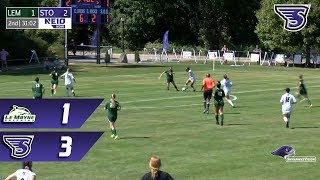 Stonehill Women's Soccer Highlights and Post-Game Interviews vs Le Moyne