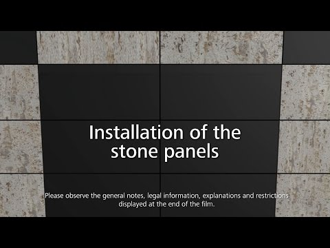 StoVentec curtain walls - how to install stone cladding panels onto rainscreen cladding systems