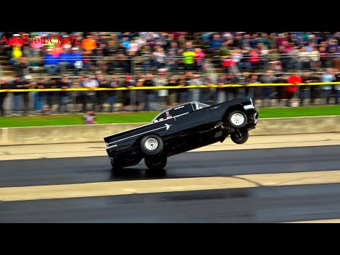 OLD SCHOOL Wheel Standing Championships at Byron Dragway OLD SCHOOL CARS AMERICAN MUSCLE