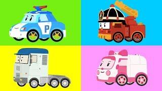 РОБОКАР ПОЛИ - Мультик про машинки - Все серии подряд - Роботрак Рой - Грузовик - Robocar Poli