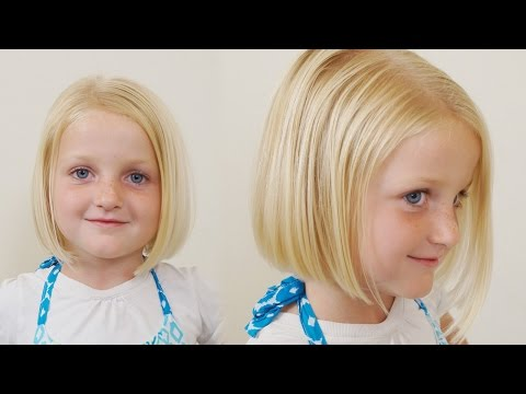 How to Cut little Girls Hair // Basic Bob Haircut // Short Haircuts for Girls