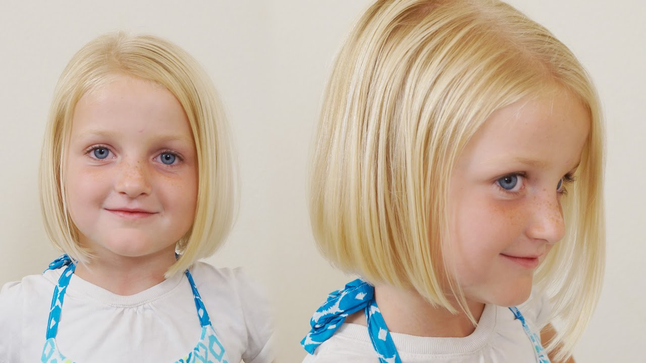 How To Cut Little Girls Hair Basic Bob Haircut Short Haircuts For