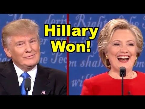 Hillary Clinton Beat Donald Trump in 1st Debate! LV Live Deb