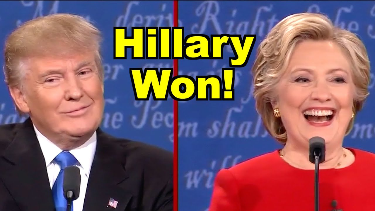 Image result for Hillary Clinton beats Donald Trump at Debate 1